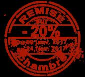 Remise du 09 janvier au 24 février 2017
