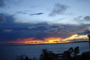 Magnifique coucher de soleil depuis Les chambres de l'hôtel