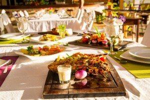 Repas gastronomique, Restaurant Hôtel Les Roches Rouges